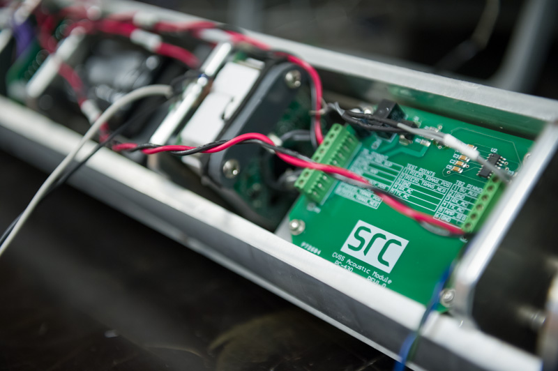 Circuit board, as key enabling technology, showing green panel