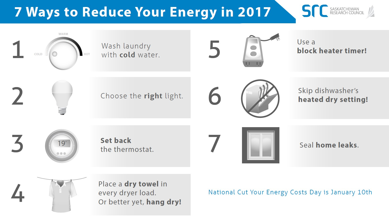 7 ways to reduce your energy in 2017 saskatchewan for Ways you can save energy