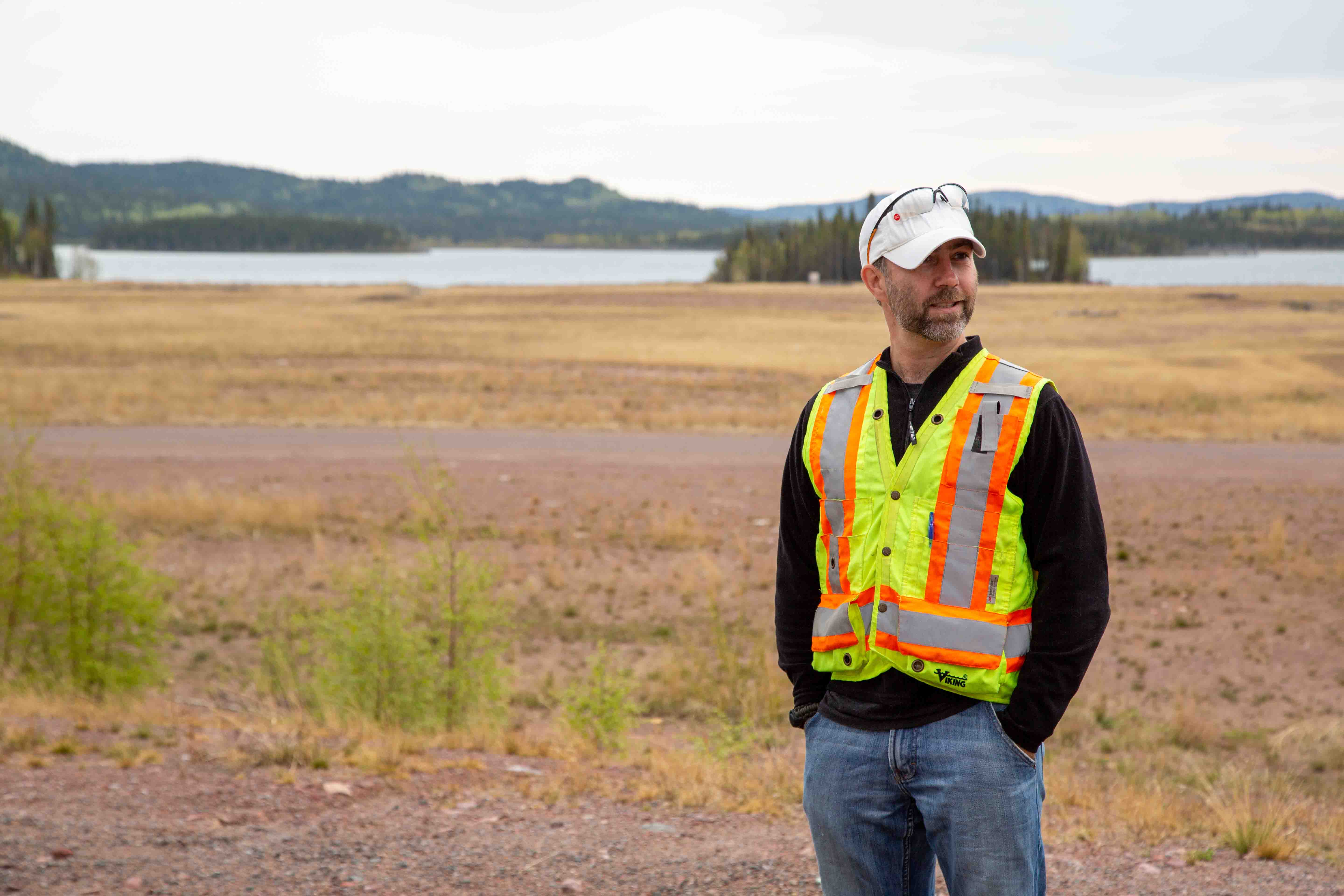 src environmental remediation team manager ian wilson at gunnar mine site