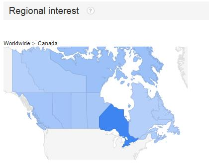 regional interest on google trends