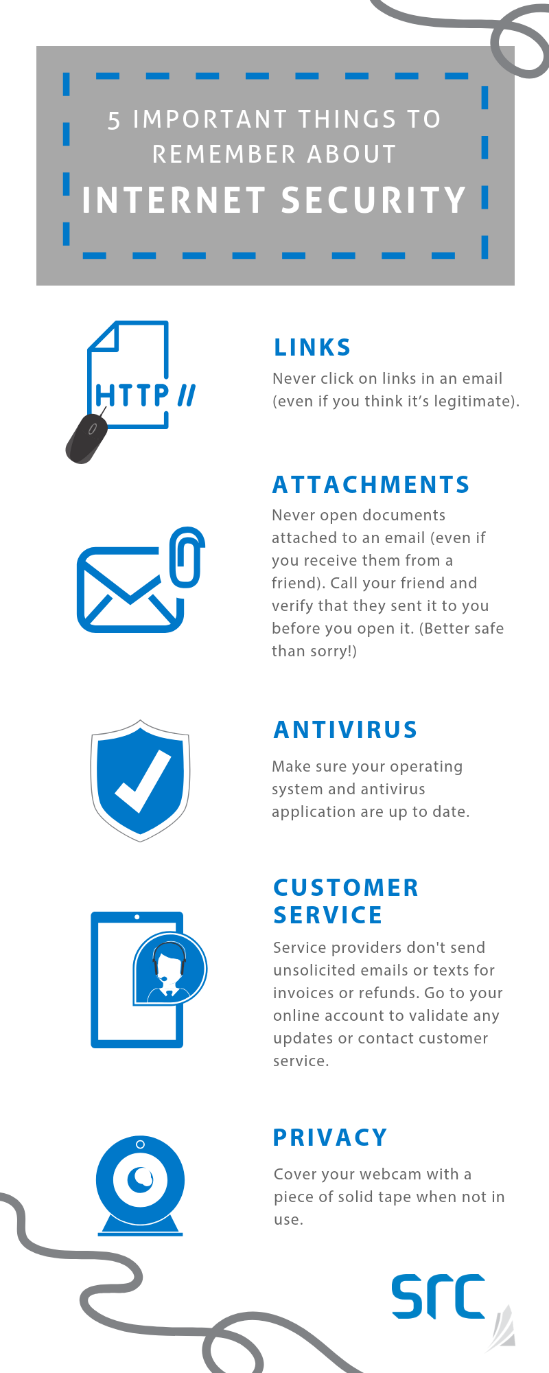 src five things to remember about internet security infographic