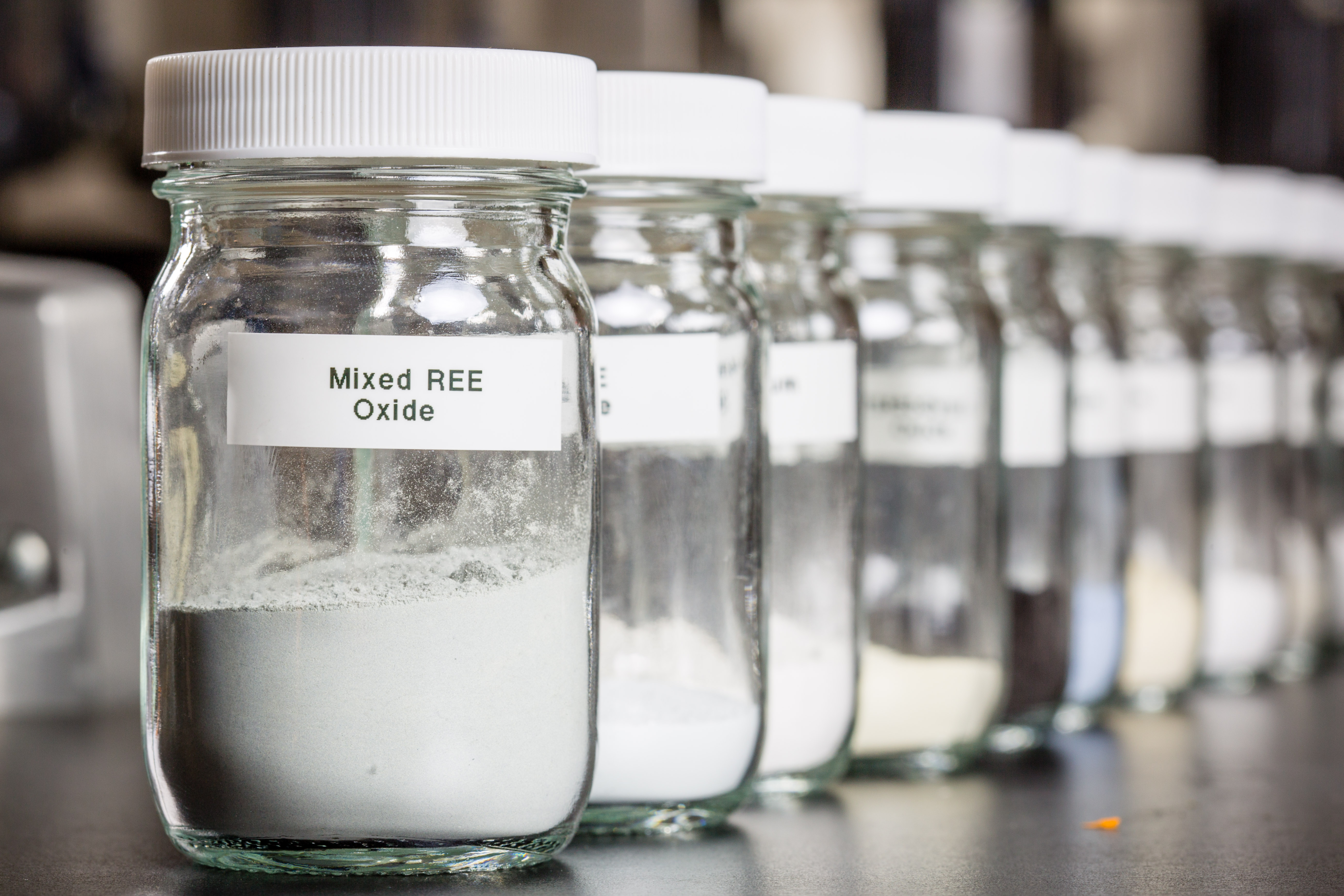 jars of rare earth elements