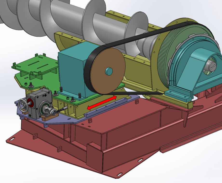 CAD drawing of src's screw feeder assembly solution