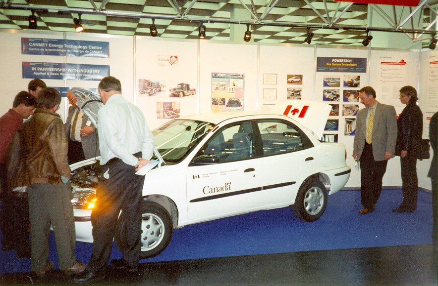 SRC Natural Gas Geo Metro on Display in Cologne, Germany in 1998