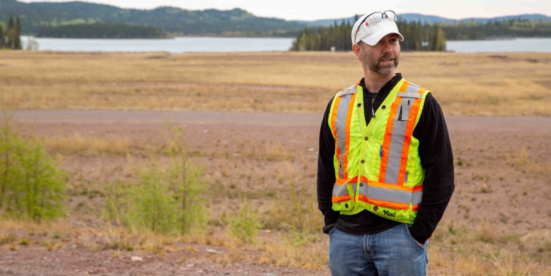src remediation manager ian wilson stands at remediated site