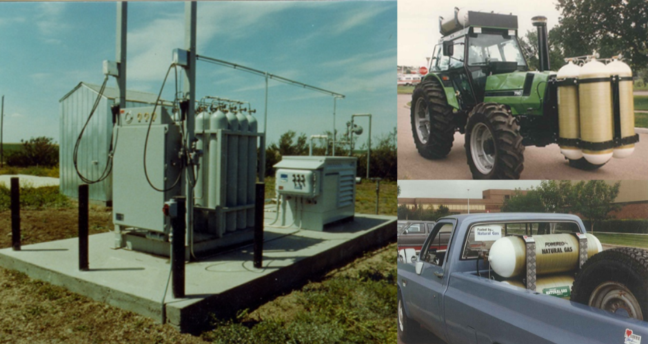 SRC Natural Gas Fuel Station, Pickup Truck and Tractor in the CNG on Farms Project, 1987 to 1989