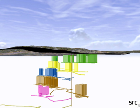 3-d model of underground mine workings