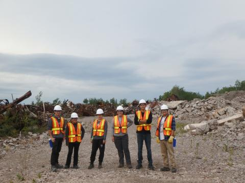 students at mine site