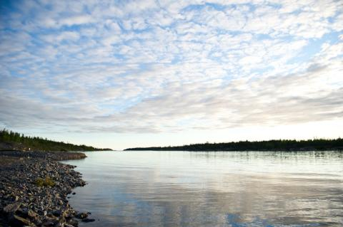 northern saskatchewan lake landscape