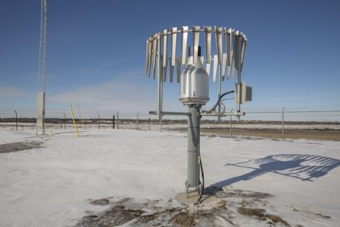 weather instrument at src's climate reference station in the winter