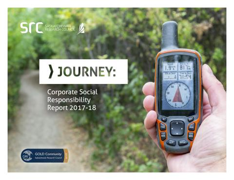 front cover of src journey csr report 17-18