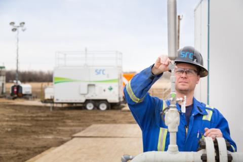 src tests methane reduction tech at well site