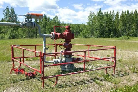 Well site in saskatchewan