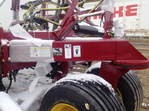 red ag equipment with eco label on it