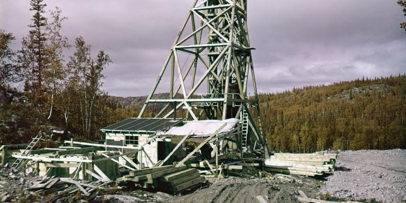 headframe construction at nicholson mine