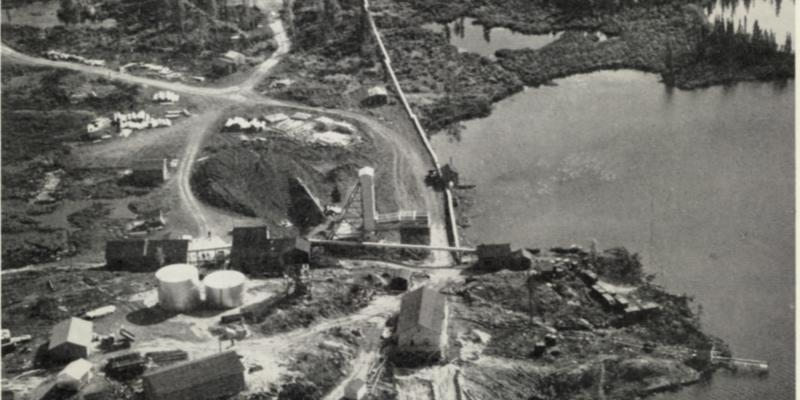 Cayzor Mine on Jean Lake in 1960.