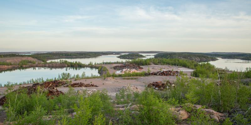 abandoned mine site in northern saskatchewan