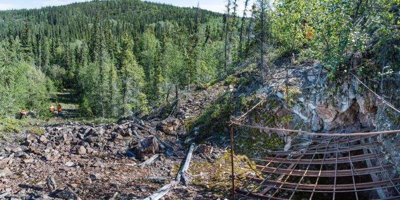 stope breakthrough, nicholson mine