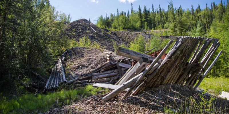 Debris and waste rock, Nicholson Mine